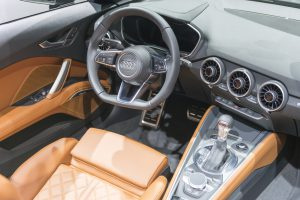 Audi TT Roadster sports car dashboard